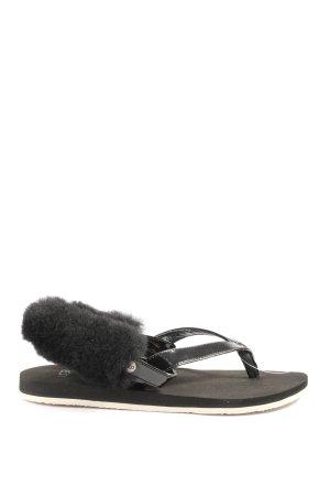 UGG Flip Flop Sandalen schwarz Casual-Look