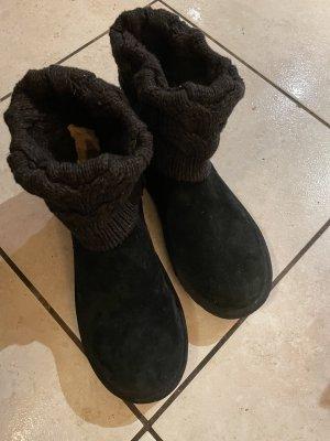 UGG Bottes de neige noir cuir