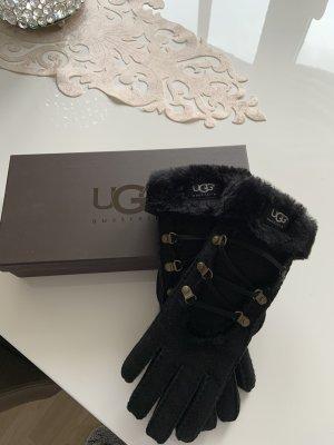 UGG Fur Gloves black