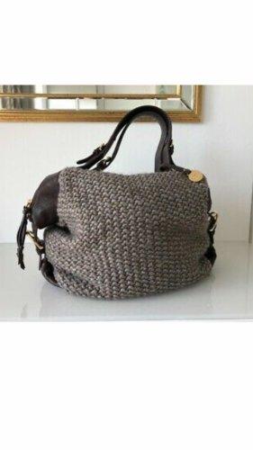UGG Handtasche Strick Leder Beutel/Schultertasche
