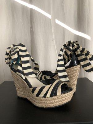 UGG Keilabsatz Sandalette zum Binden, gestreift, Größe 37