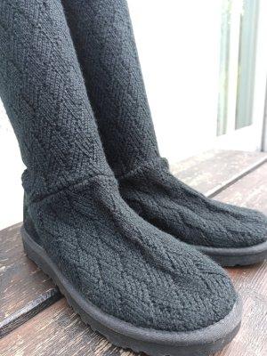 UGG knit boots schwarz