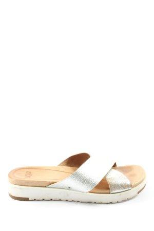 UGG Komfort-Sandalen silberfarben Casual-Look