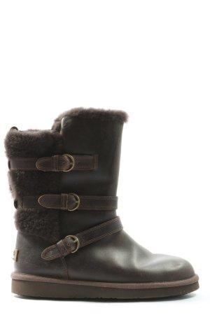UGG Stivale a gamba corta nero-marrone stile casual