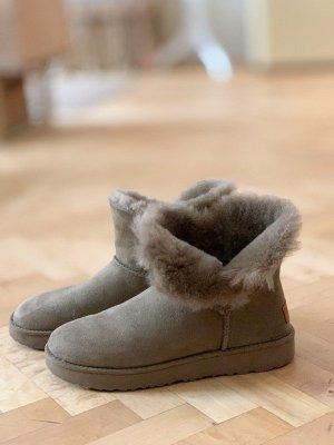 UGG Lammfell Ankle Boots Fell Khaki Low 38