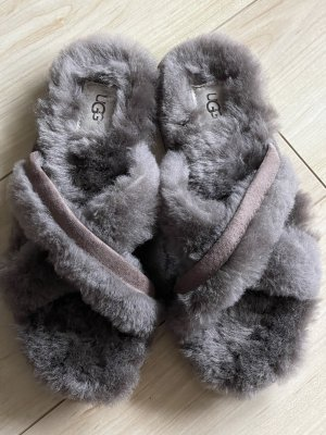 UGG Sandales confort gris tissu mixte