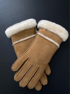 UGG Lederhandschuh mit Echtfellbesatz und Touchscreen-Funktion Gr. L       NEU!