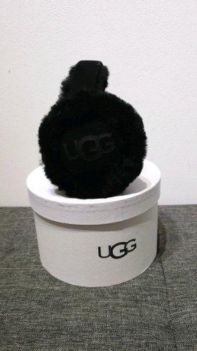 UGG Nauszniki czarny Tkanina z mieszanych włókien