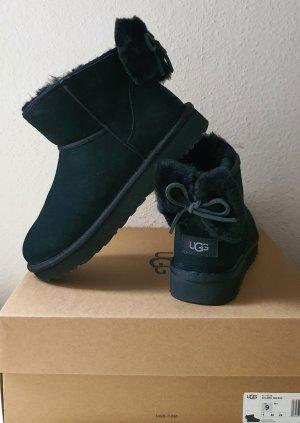 UGG Original Damen Boots Classic Mini Bow schwarz Gr.40 UK7 USA9 NEU