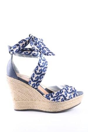 UGG Sandales à plateforme bleu-crème Mélange de motifs style décontracté
