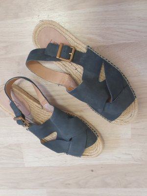 UGG Australia Sandalo alto con plateau blu scuro