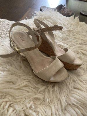 UGG Sandalen Schuhe Keilsabsatz Gr 37