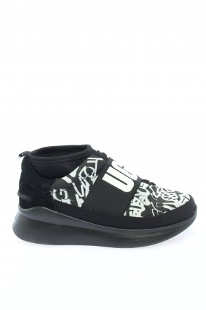 UGG Schlüpfsneaker schwarz-weiß abstraktes Muster Casual-Look