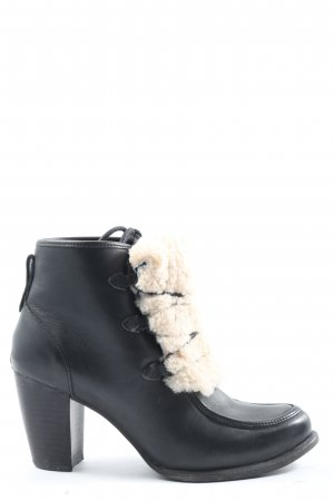 UGG Lace-up Booties black-cream business style