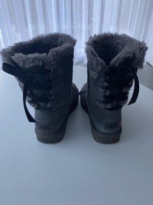 UGG Futrzane buty ciemnoszary