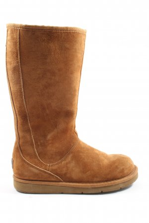 UGG Slouch Boots light orange themed print casual look