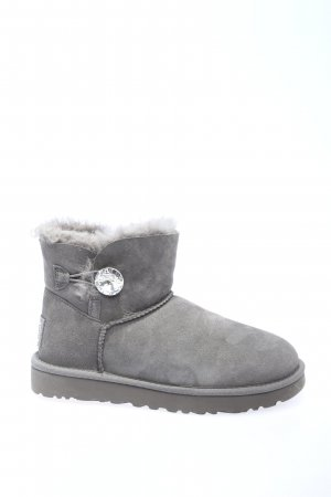 "UGG Botas de nieve ""W Mini Bailey Button Bling"" gris claro"