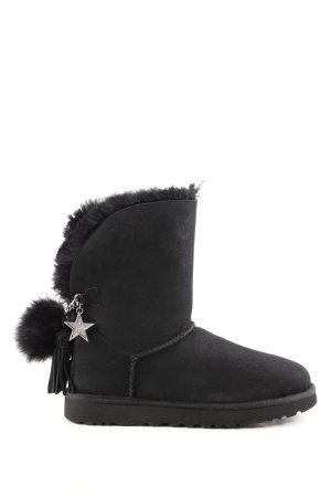 "UGG Botas de nieve ""W Classic Charm Boot Black"" negro"