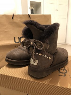 UGG Australia Krótkie buty ciemnobrązowy-czarno-brązowy