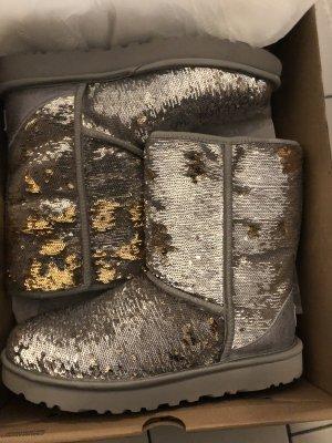 UGG Bottes de neige argenté-brun sable