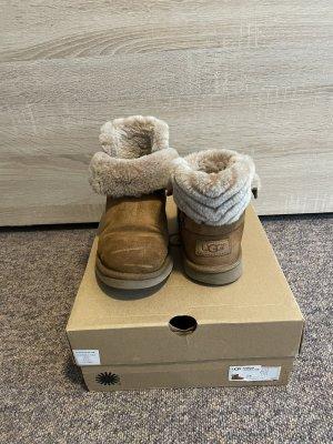 UGG Australia Futrzane buty jasnobrązowy-brązowy Skóra
