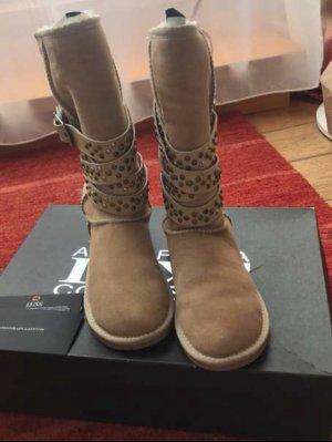 Australia Luxe Collective Laarzen met bont beige