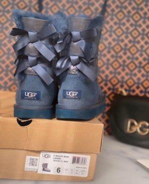 UGG Australia Stivale da neve blu scuro-argento
