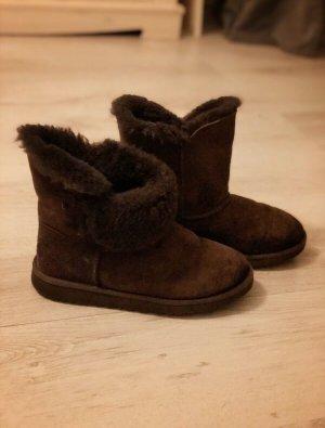 UGG Futrzane buty ciemnobrązowy