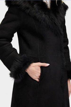 UGG Manteau en cuir noir cuir