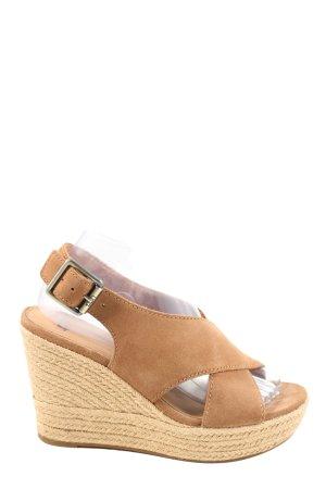 UGG Wedges Sandaletten braun Casual-Look
