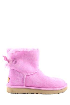 UGG Winter-Stiefeletten pink-braun Casual-Look