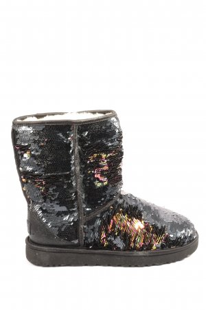 UGG Winter Boots black-gold-colored glittery
