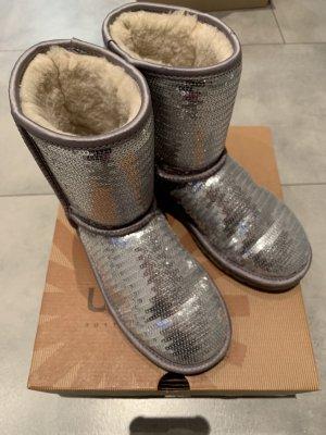 UGG Winterstiefel Silber Pailletten Größe 35/36
