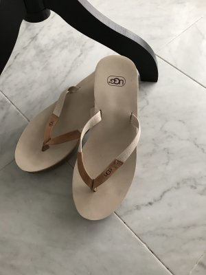 UGG Sandalo toe-post beige-crema