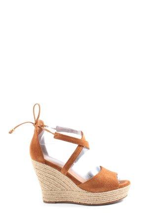 UGG Sandalo toe-post marrone-bianco sporco stile casual