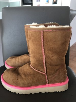 UGG Australia Ankle Boots brown-neon pink
