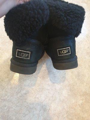 UGG Bottes d'hiver noir cuir