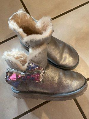 UGG Australia Futrzane buty srebrny-biały