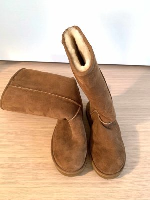 UGG Australia Futrzane buty cognac Skóra
