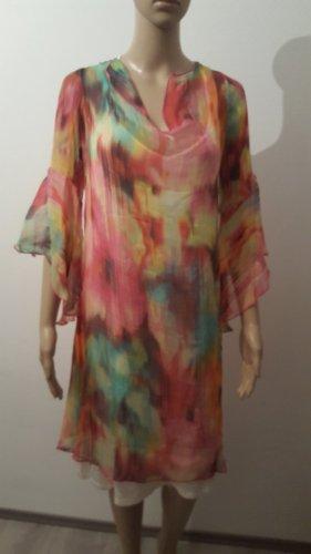 Ugli Sista Kleid 100 % Seide Sommerkleid mit Unterkleid Größe 44