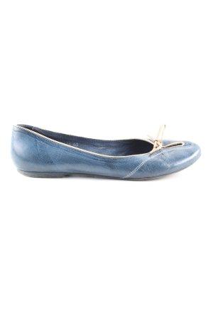 Ugo Torrini Riemchen Ballerinas blau Casual-Look
