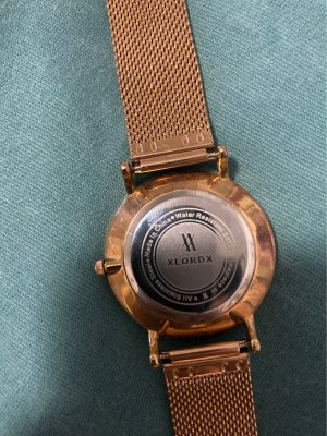 Analoog horloge roségoud