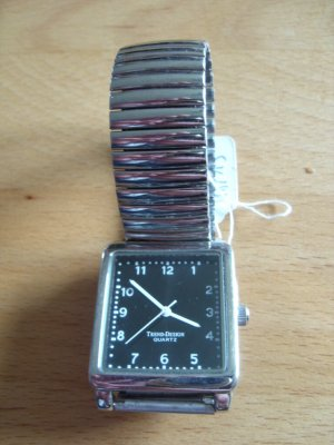 Fermoir de montre argenté-gris clair métal