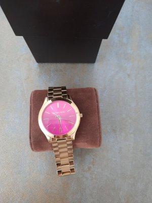 Michael Kors Horloge met metalen riempje goud-roze
