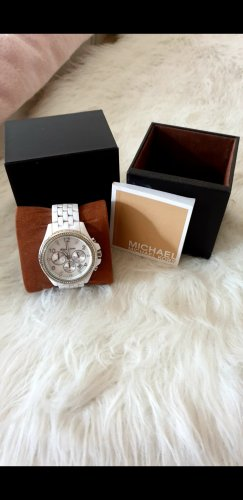 Michael Kors Watch With Metal Strap white