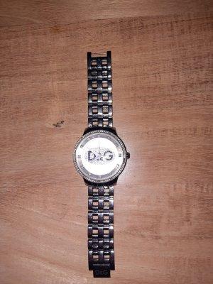 D&G Reloj con pulsera metálica color plata