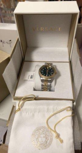 Gianni Versace Automatisch horloge zilver-bos Groen