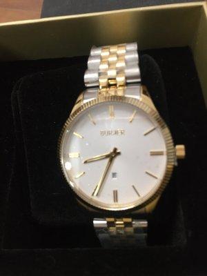 Burker Reloj con pulsera metálica gris