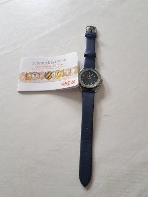 HSE 24 Orologio con cinturino di pelle azzurro Pelle