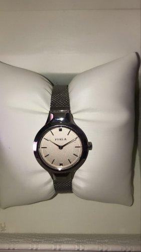 Furla Horloge met metalen riempje zilver
